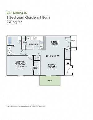 1 bedroom garden