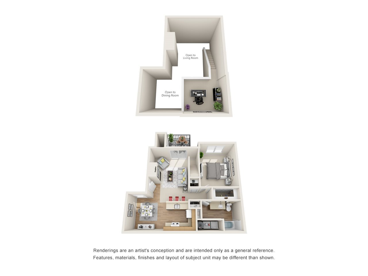 Contempory (Loft) Floor Plan 3