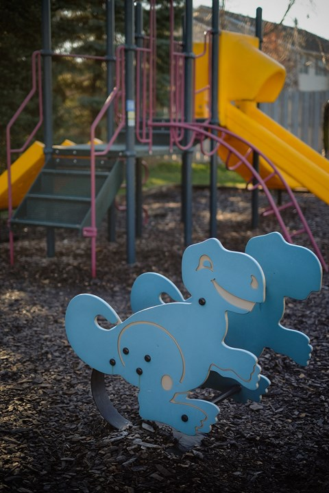 children playground slides swings monkey bars outdoor play area at Regency Apartments in Bettendorf Iowa