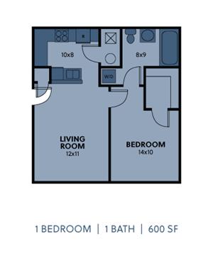 1 Bedroom 1 Bath Small