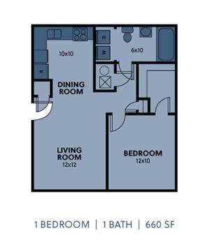 1 Bedroom 1 Bath Medium