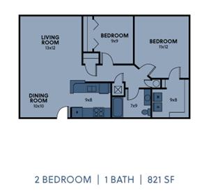 2 Bedroom 1 Bath Medium
