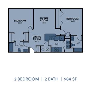 2 Bedroom 2 Bath Medium