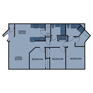 regency 3br 3ba 1346sf floorplan
