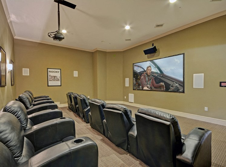 Indoor Movie Theater, at Missions at Sunbow Apartments, Chula Vista, CA