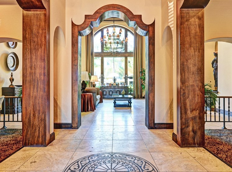 Atrium Style Lobby, at Missions at Sunbow Apartments, CA, 91911