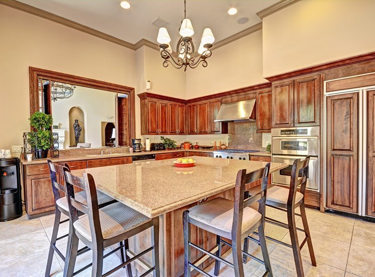 Gourmet Kitchen with Granite Countertops, at Missions at Sunbow Apartments, 5540 Ocean Gate Lane