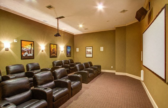 Renovated Media Room, at Missions at Sunbow Apartments, CA, 91911