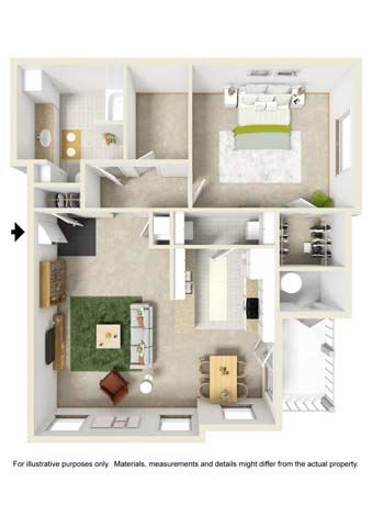 1 Bedroom w/Study - Phase II