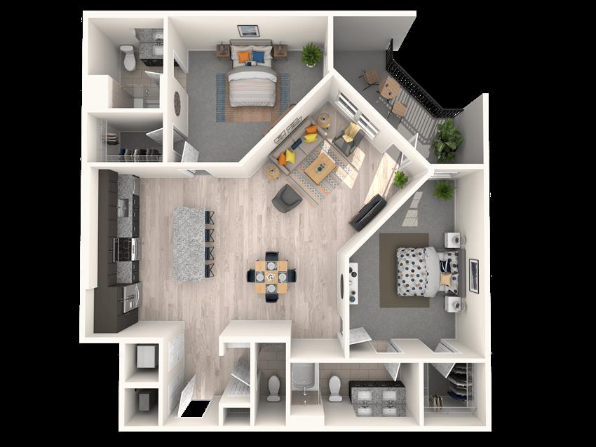 The Shirley B2 Floorplan