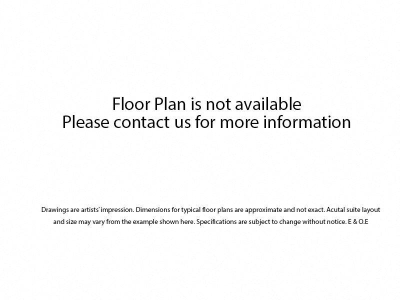 Floor plan of Studio, 1 bath, upscale, open concept unit