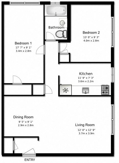 2 bed, 1 bath, generous apartments with ample storage at Bexhill Court Apartments in Toronto, ON