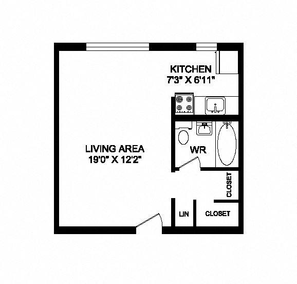 Studio, 1 bath, open concept suites at 641 Vaughan Road in Toronto, ON