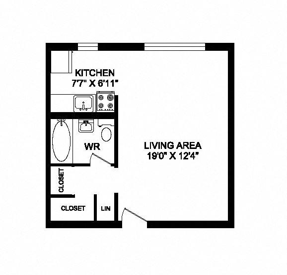 Studio, 1 bath, open concept suite at 641 Vaughan Road in Toronto, ON
