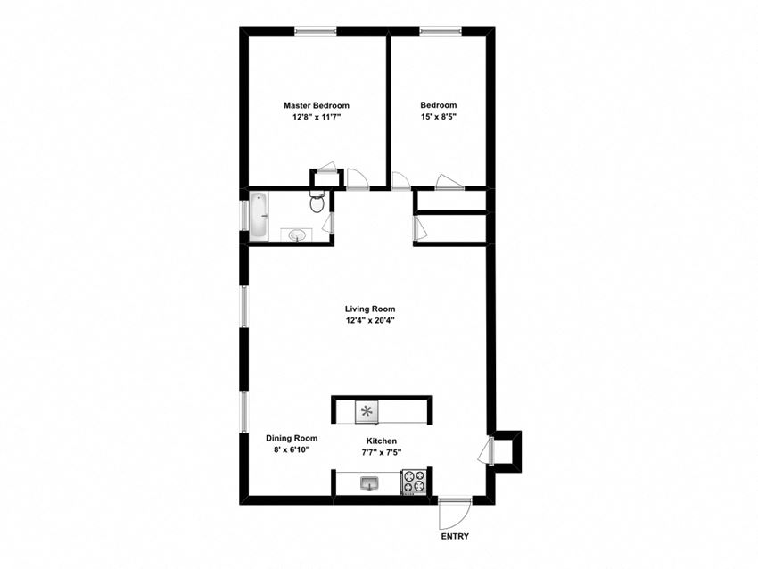 2 bed, 1 bath, enjoy relaxed, comfortable living at 162 Berry Road in Toronto, ON