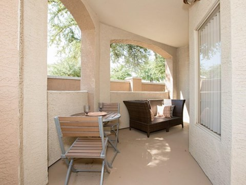 Furnished patio