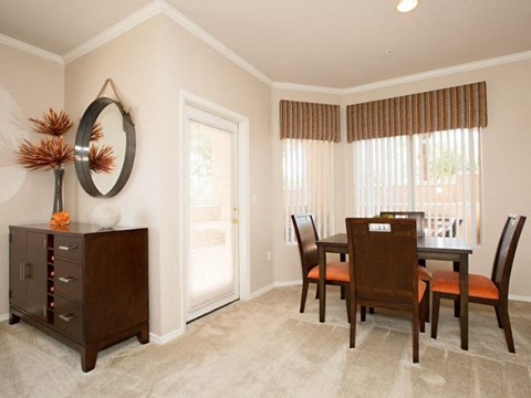 Model home dining area