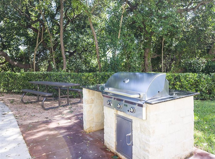 townhome exterior BBQ
