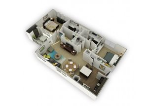Hassium (Hs) Renovated floor plan.