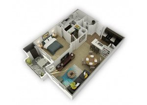 Rhodium (Rh) Renovated floor plan.