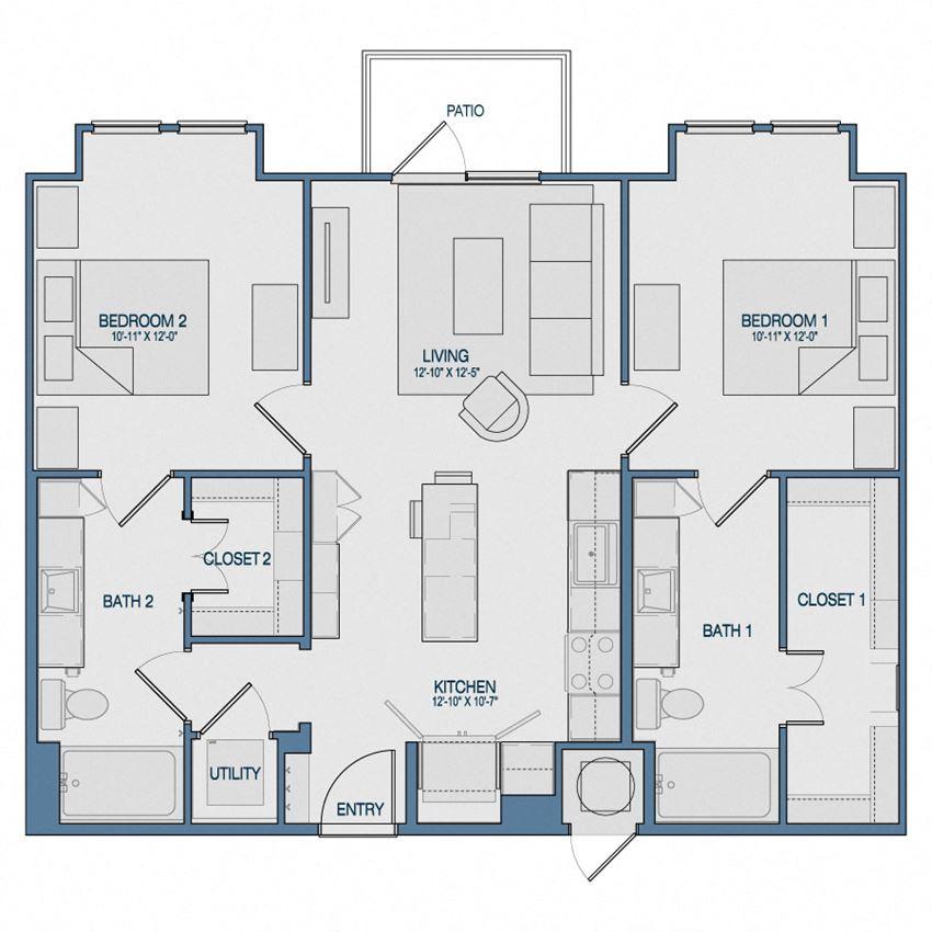 B1B Floorplan The Kathryn