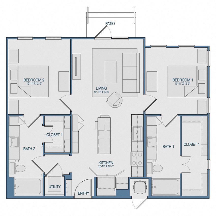 B2 Floorplan The Kathryn