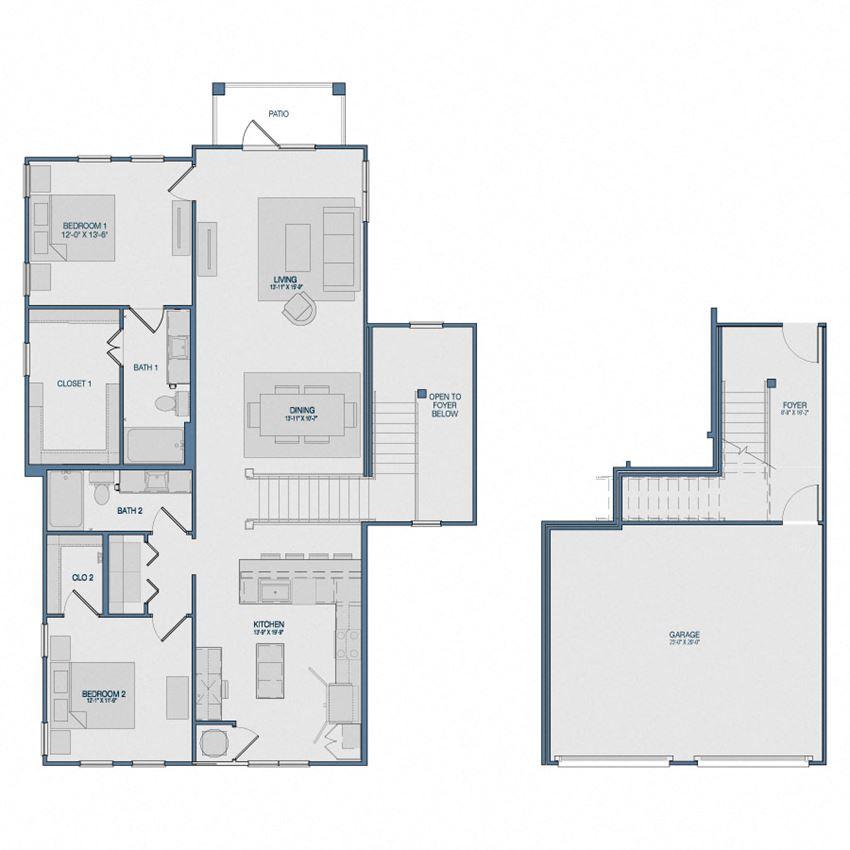 B4G6 Floorplan The Kathryn