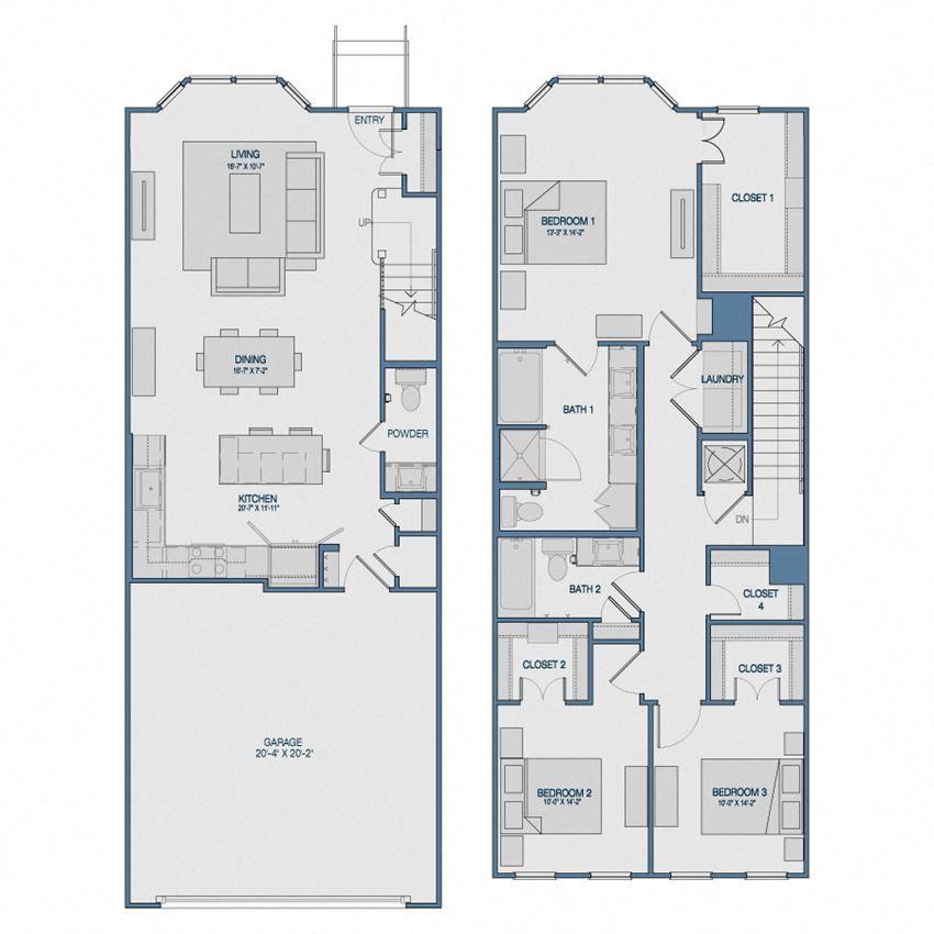 TH3A Floorplan The Kathryn