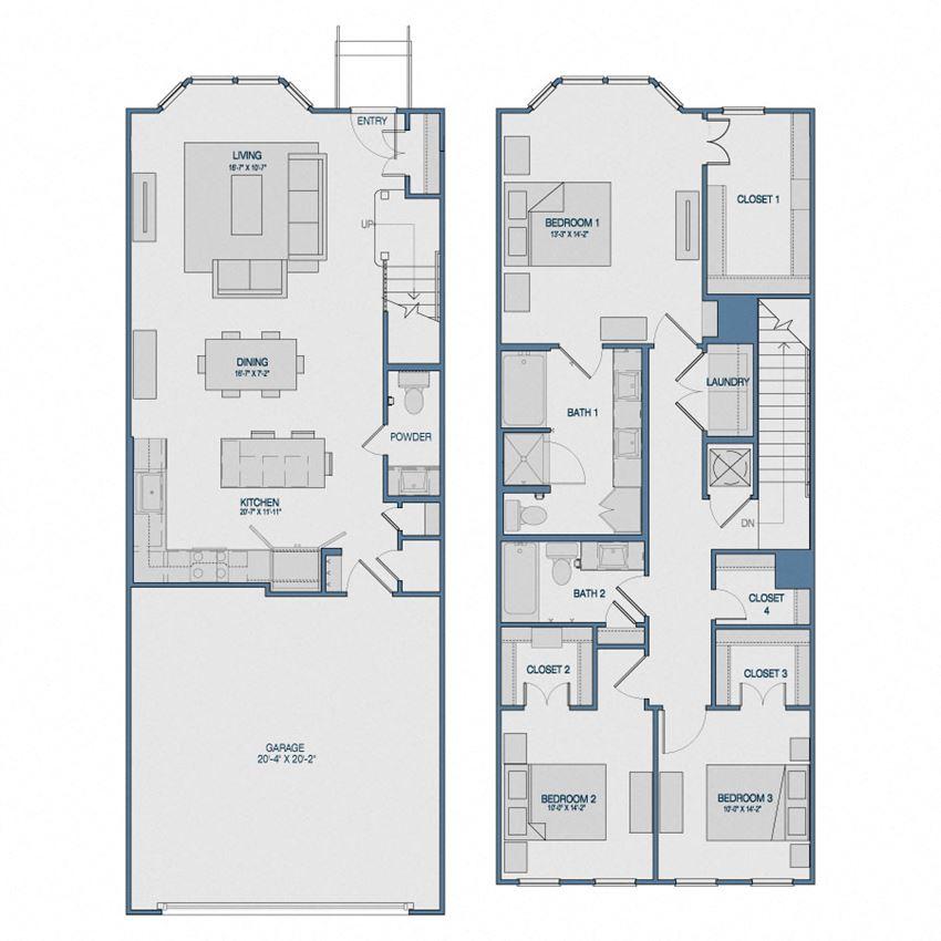 TH3B Floorplan The Kathryn