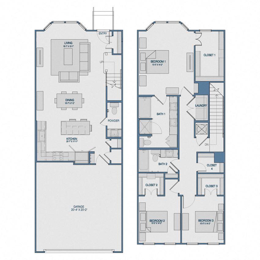 TH3 Floorplan The Kathryn