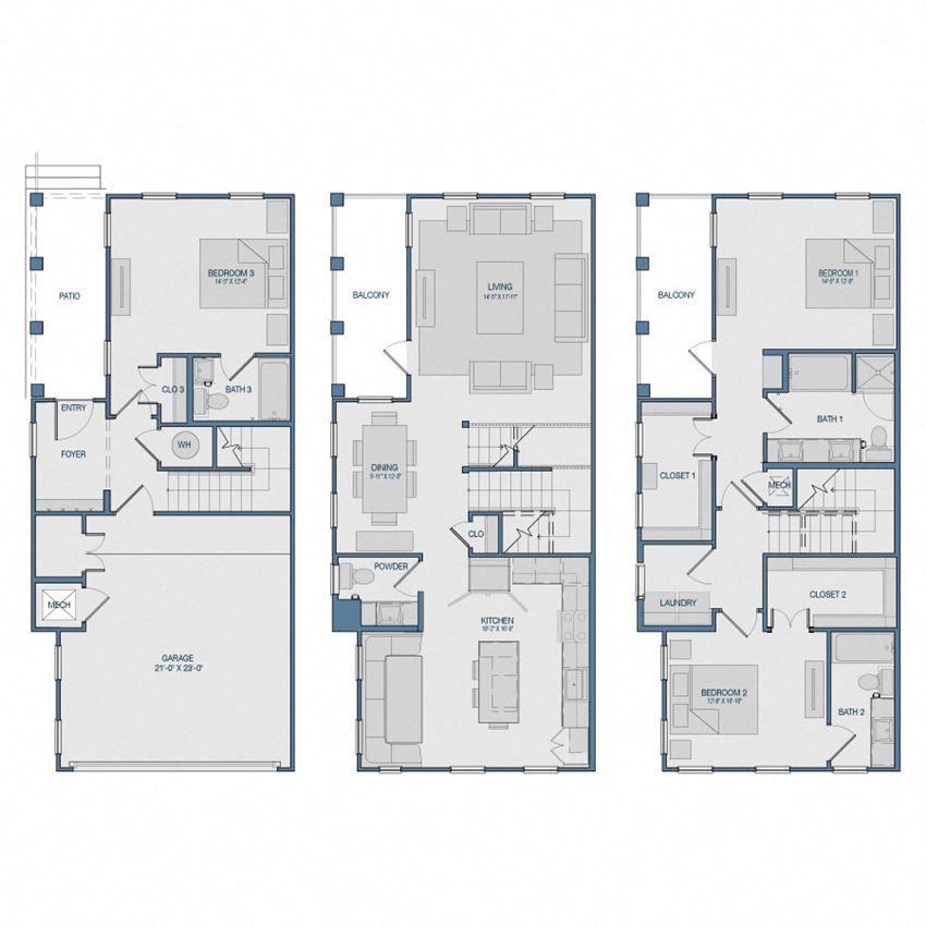 TH4 Floorplan The Kathryn