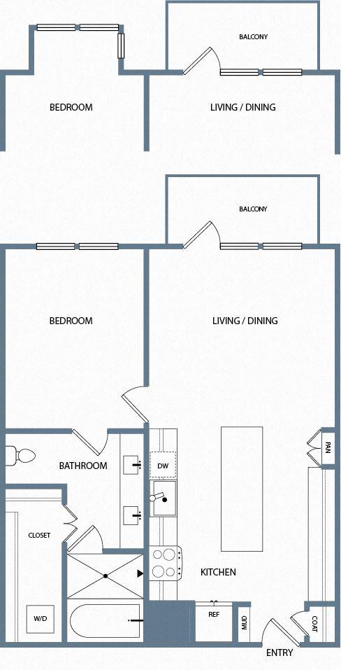 A3B Floorplan The Maxwell