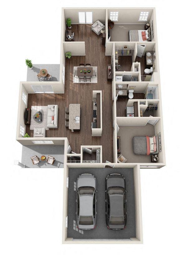 DeWitt Michigan Apartment Rentals Redwood DeWitt Breezewood Sunroom Floor Plan