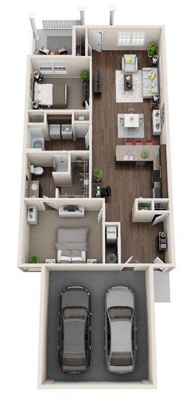 DeWitt Michigan Apartment Rentals Redwood DeWitt Haydenwood B Floor Plan