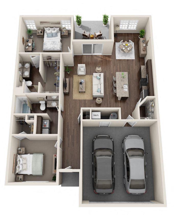 DeWitt Michigan Apartment Rentals Redwood DeWitt Willowood Floor Plan