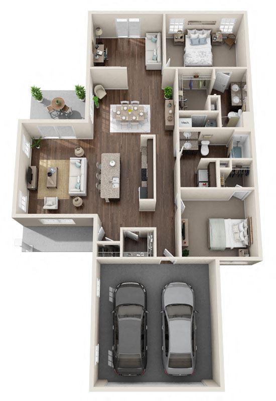 Brownstown Michigan Apartment Rentals Redwood Brownstown Sibley Road Capewood Floor plan