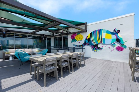 Sky Lounge with Downtown Views