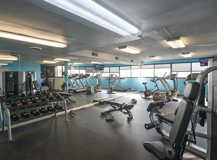 Fitness Center, Walnut Towers at Frick Park apartments in Pittsburgh, PA