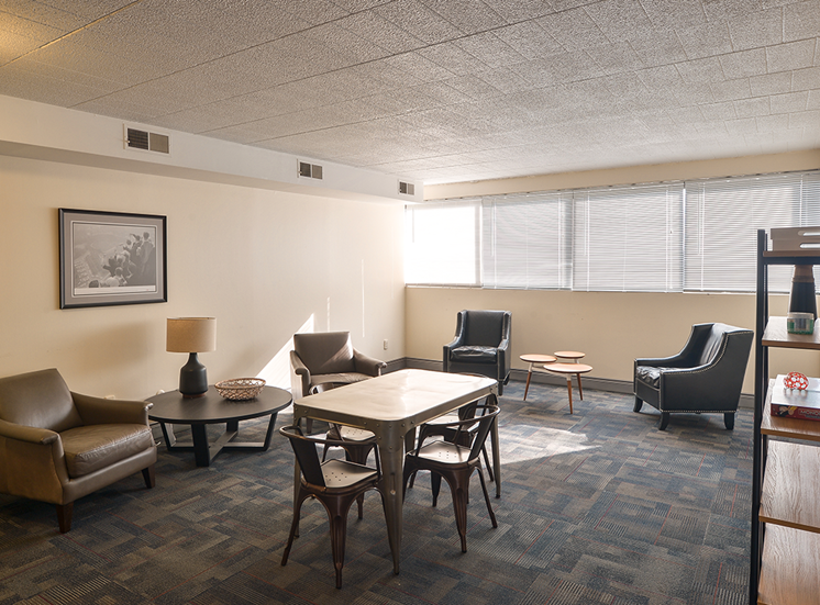 Social Room, Walnut Towers at Frick Park apartments in Pittsburgh, PA