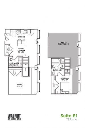 1.5 BR 1.5 Bath Suite E Loft