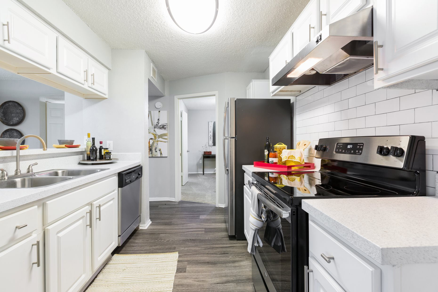 Kitchen at Northgreen at Carrollwood Apartments in Tampa, FL