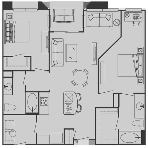 Floor Plans Of Delante Apartments In Irving Tx