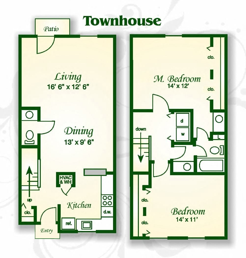 Apartment Finder Asheville Nc: Floor Plans Of Haw Creek Mews Apartments And Townhomes In