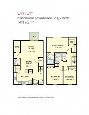 Wescott - 3 bedroom