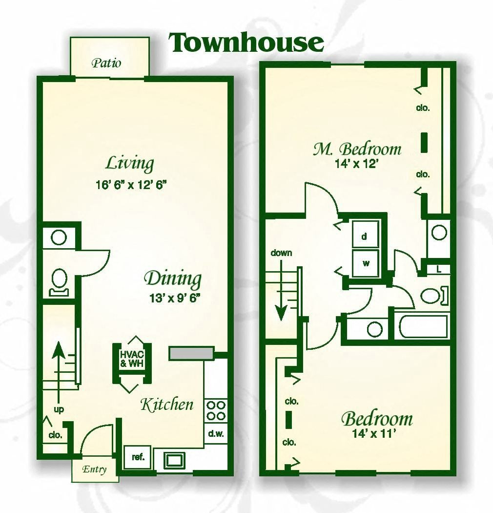 Greenbrier Apartments Columbia Sc: Floor Plans Of Rice Terrace Apartments And Townhomes In