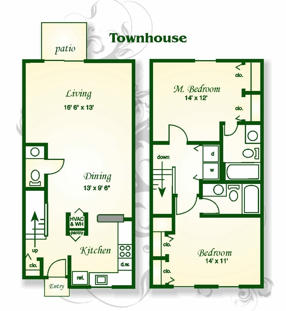 Floor Plans Of Shadowmoss Pointe Apartments And Townhomes