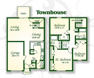 The Willow Townhouse w Gar