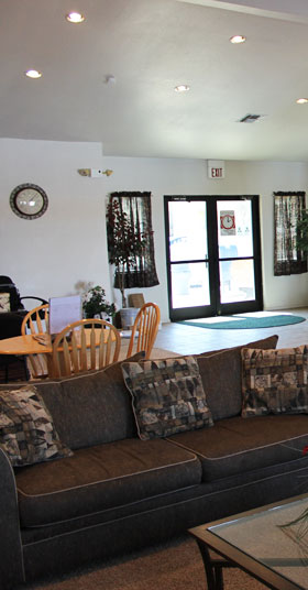 Clubhouse at Apache Trace Apartments in Guymon