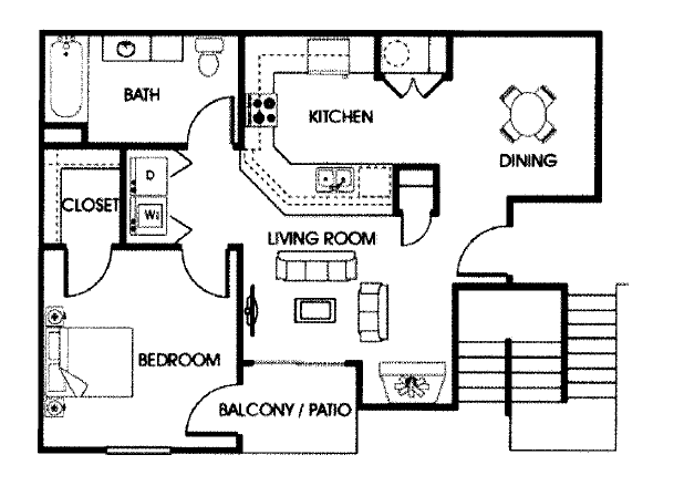 Apache Trace Apartments 1 bedroom 1 bath