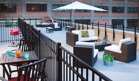 Rooftop Patio at Block 2 Lofts in Little Rock
